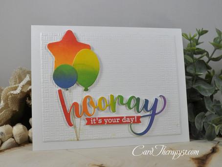 Rainbow Hooray It's Your Birthday
