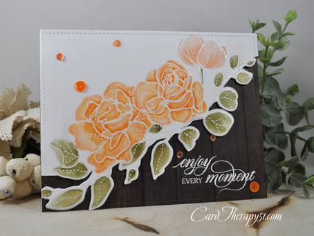 Soft Peach Watercolored Spring Bouquet