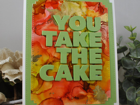 Alcohol Ink Background: You Take the Cake
