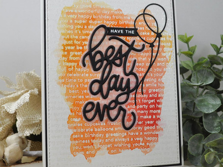 Have the Best Day Ever Watercolor Background