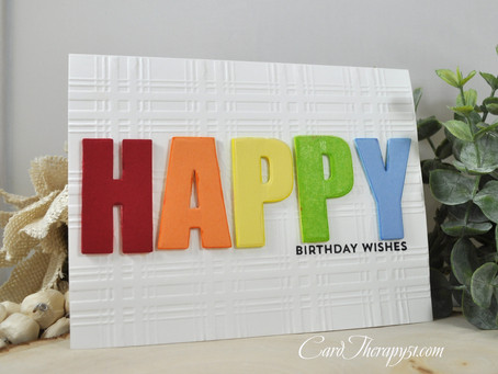 Rainbow Plaid Happy Birthday Wishes
