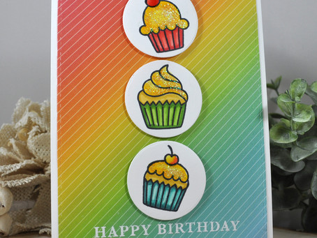 Three Cupcakes Happy Birthday
