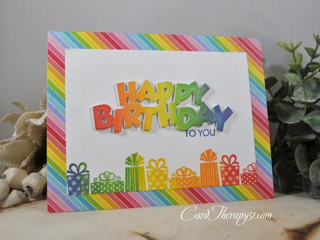 Rainbow Happy Birthday to You