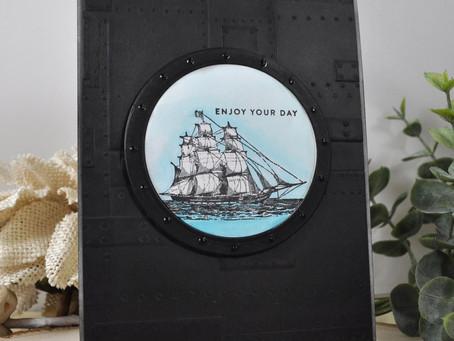 Vintage Ship Enjoy Your Day