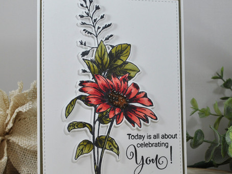 Sketchy Floral Celebrating You