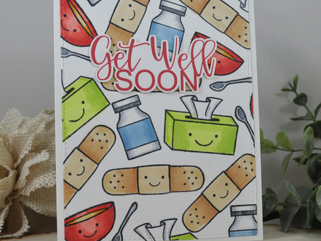Get Well Soon Background Stamping