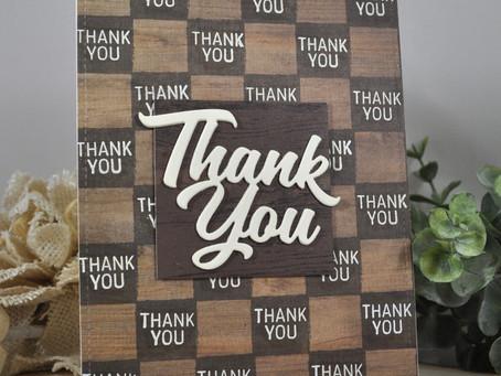 Checker Board Thank You