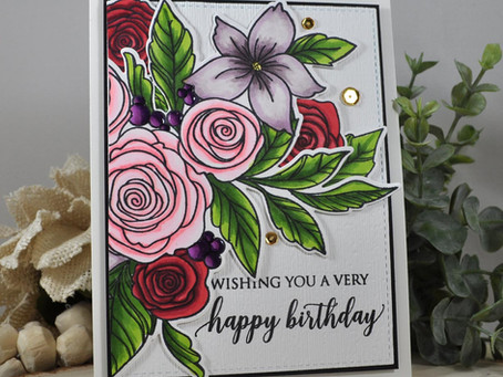 Rose Bouquet Wishing You a Very Happy Birthday