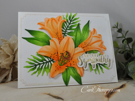 Orange Easter Lily With Sympathy