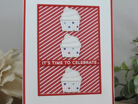 Cupcake Trio It's Time to Celebrate