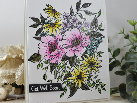 A Bouquet of Blossoms Get Well Wishes