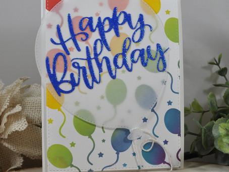 Happy Birthday Balloon Background