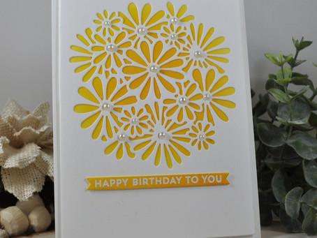 Pretty Daisy Happy Birthday To You