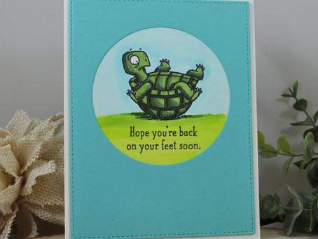 Back On Your Feet Soon Little Turtle