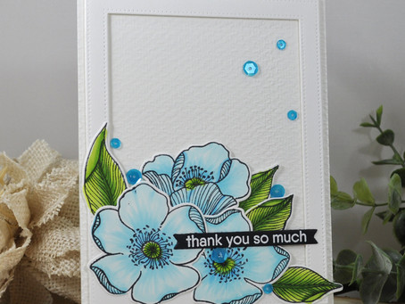 Blue Flower Thank You so Much