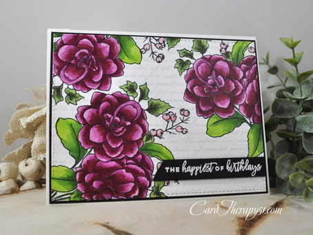 Paint-a-Flower Camellia The Happiest of Birthdays