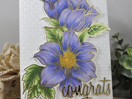 Periwinkle Statement Flower
