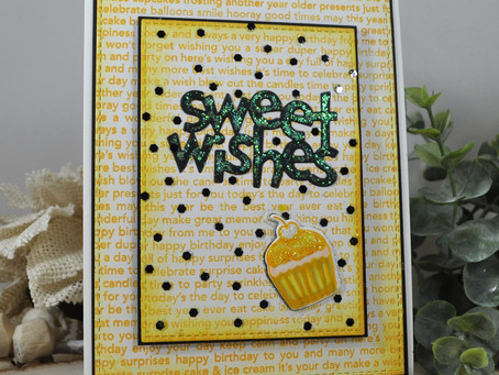 Black and Yellow Sweet Wishes Cupcake
