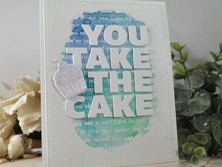 You Take the Cake Watercolor Background