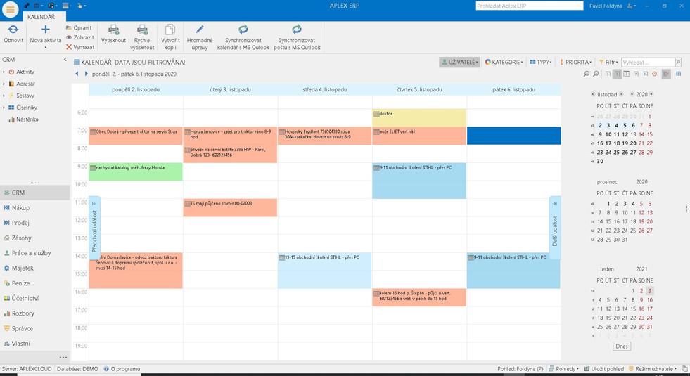 Kalendář aktivit