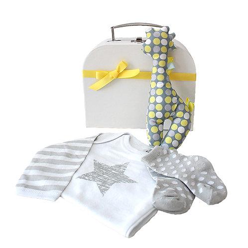 Spotty Giraffe Baby Gift Box