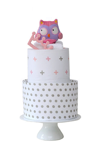 Princess Nappy Cake Two Tier