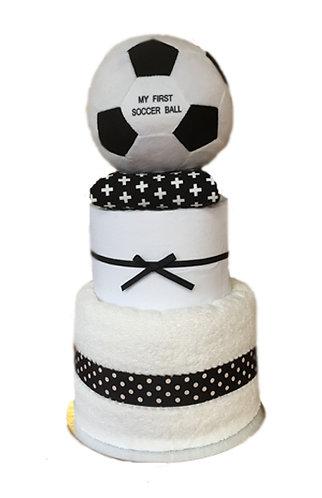 soccer nappy cake