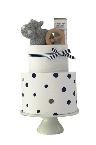Two Tier Hippo Nappy Cake