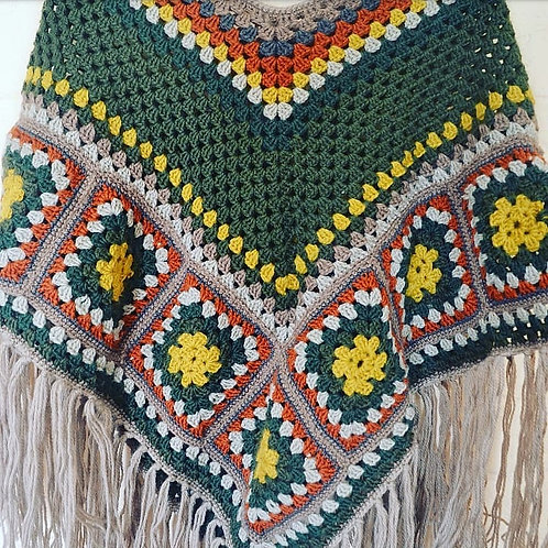 70s inspired Poncho