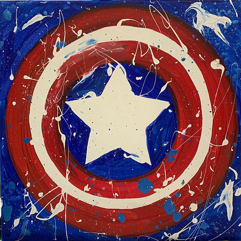 Captain America Canvas DIY Kit