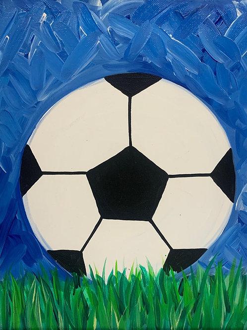 Soccer Ball Canvas DIY Kit