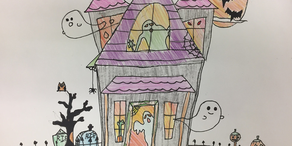 Haunted House Drawing (Ages 6+)