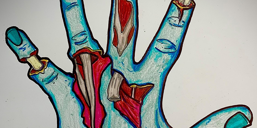 Zombie Hand Drawing! Ages 12-16