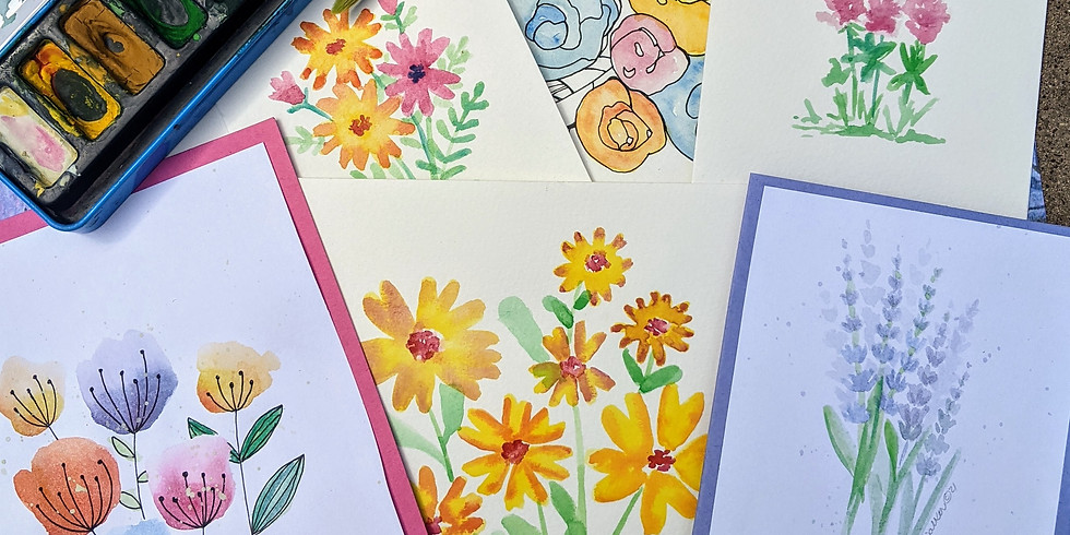 Adult Floral Watercolor Class (16+)