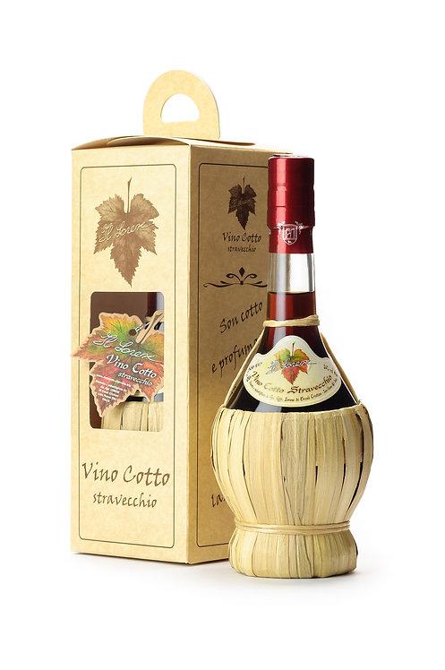 VINO COTTO STRAVECCHIO IN FIASCHETTA (Vino cotto stravecchio in a Flask)