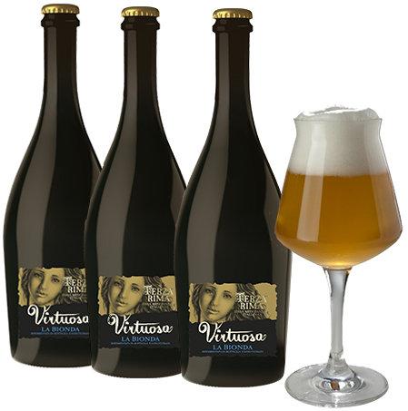 VIRTUOSA BIRRA BIONDA ARTIGIANALE  (VIRTUOSA  Artisan Blonde Beer)