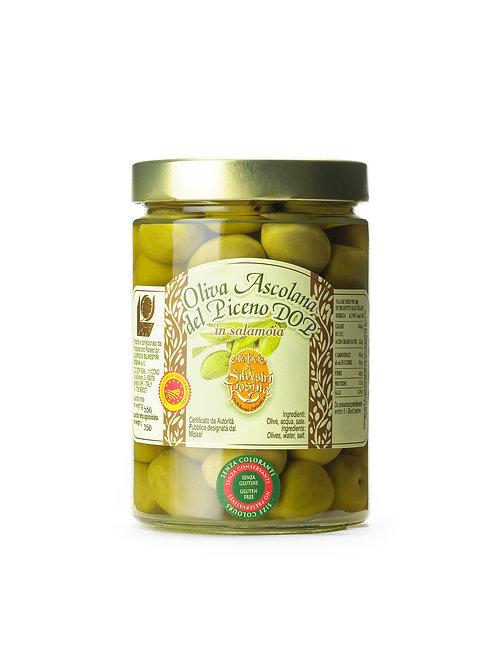 OLIVA TENERA ASCOLANA IN SALAMOIA (Tender olive from Ascoli in brine)