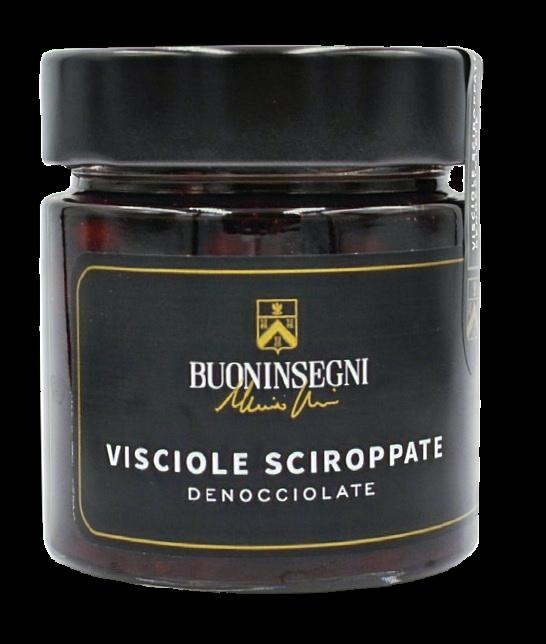 VISCIOLE SCIROPPATE DENOCCIOLATE ( Pitted Sour Cherries)