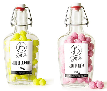 GOCCE DI LIMONCELLO O MIRTO 130 gr (Drops of Limoncello or Myrtle 130 gr)