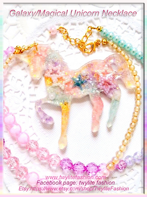 Galaxy/ Magical Unicorn Necklace