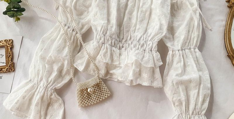 Puffy Bell Sleeves Blouse