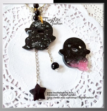Scary Cute Ghost Keychains