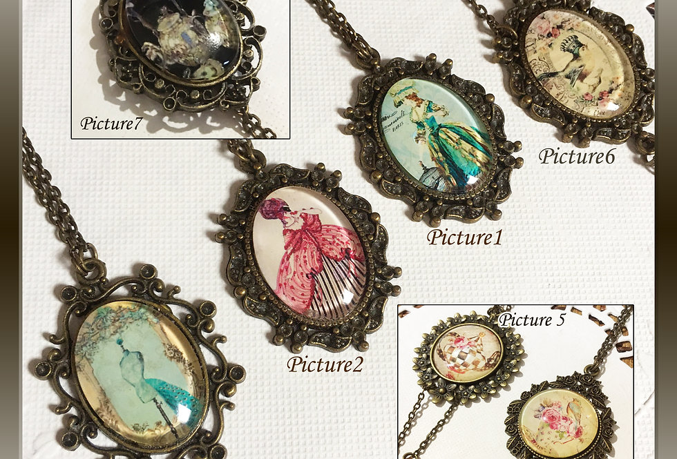 Classic Frame Necklace/Victorian/Vintage necklace/classic lolita/Gothic
