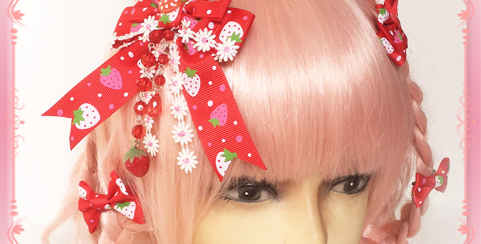 Ichigo Flower Hair Bow Series