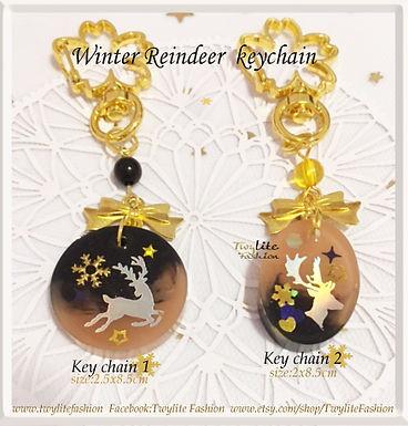 Winter Reindeer  keychain/bag charms