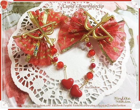 Cupid's bow hairclip - Valentines Accessories