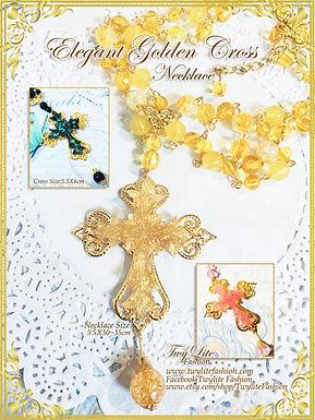 Elegant Golden Cross Necklace