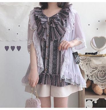 Lavender Lace Cardigan