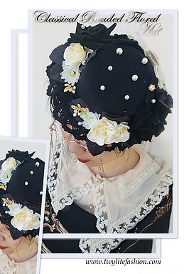 Classical Beaded Floral Hat