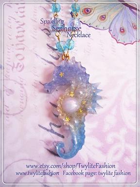 Sparkling Sea Horse Necklace